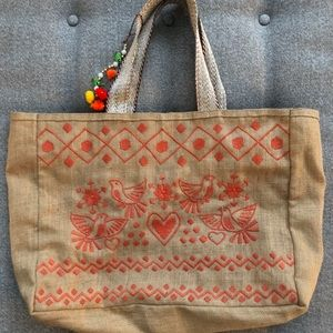 Handbags - NEW Embroidered beach tote.